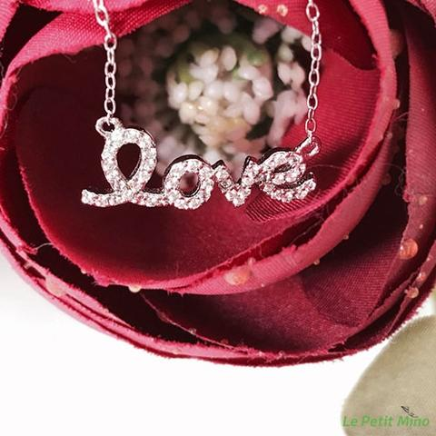 925 Silver Bling Love in Lowercase Pendant Necklace 2
