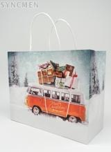 OEM Design Printed  Kraft Shopping Bag for Boutique Shop