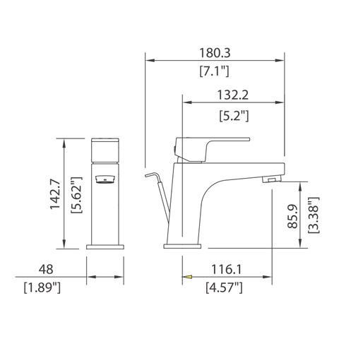 Casement - Single control Lav faucet