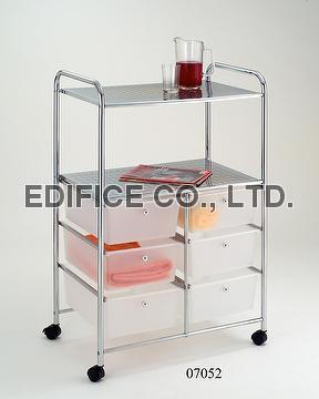 Double Row 3/3 Tier Storage Cart