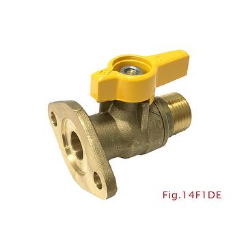2-pc Flanged End Forged Brass Ball Valve