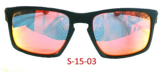 Black Rubbery Frame & Temples Red Revo / Smoke PC #6 Base Lens