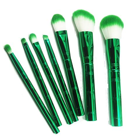 metal handle custom makeup brush set