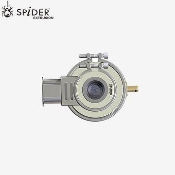 Optic fiber extrusion crosshead