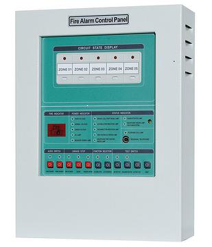 YF-1 5 Zone Conventional Fire Alarm Control Panel Push-button