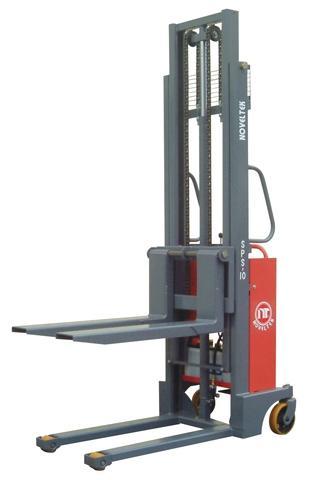 NOVELTEK Powered Lifting Pallet Stacker 1500KG Wide Straddle