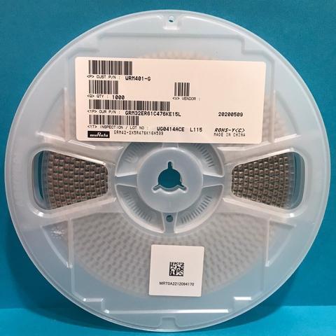 Ceramic Capacitor GRM32ER61C476KE15L 47UF 16V X5R 10% 1210 MURATA