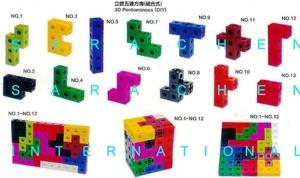 3D PENTOMINOES (DIY PUZZLES)