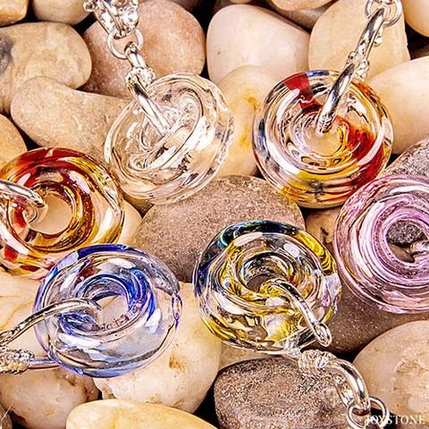 Diffuser Necklaces Donut Aroma Vial Stainless Steel Chain