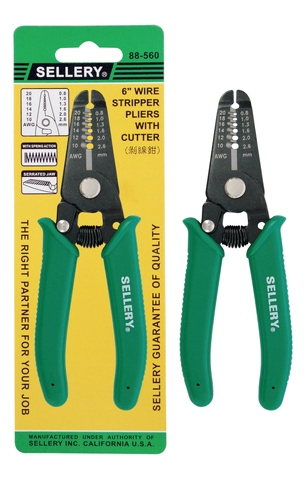 SELLERY WIRE STRIPPER PLIERS WITH CUTTER