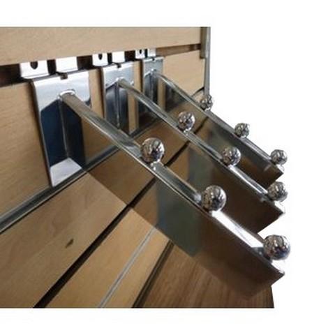 Mdf Slatwall Board Panel Chrome Powder Coating Metal Hooks Waterfall Bracket Taiwantrade Com