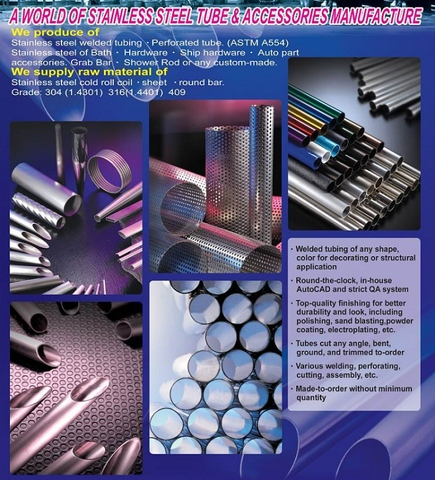 """1 Foot Long Piece 1 /"""" Perforated Stainless Steel Tubing"""