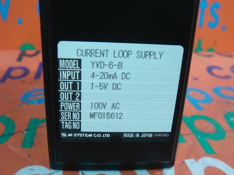 M-SYSTEM YVD-6-B CURRENT LOOP SUPPLY