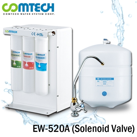Taiwan 5-Stage RO Water Filtration System With Solenoid Shut Off