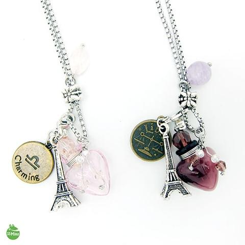 Diffuser Constellation Necklace Art Glass Vial