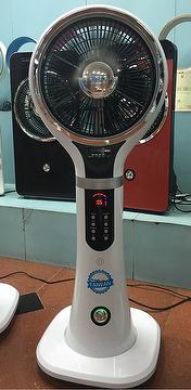 Taiwan Water cooling mist fan with MP3 and FM / multifunctional fan ...
