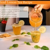Fresh iced lemon tea recipe.