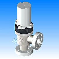 Vacuum Angle Valves with bellows - CF Rotatable Flanges with Reed Sensor pneumatically actuated