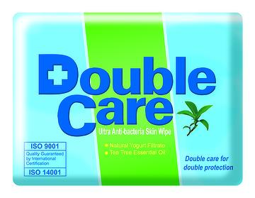 Double Care disposable baby wet wipes