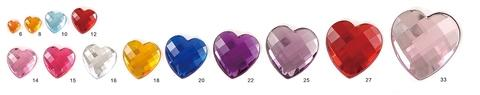 Size of Heart Check Acrylic Gemstone by Gemstone Factory