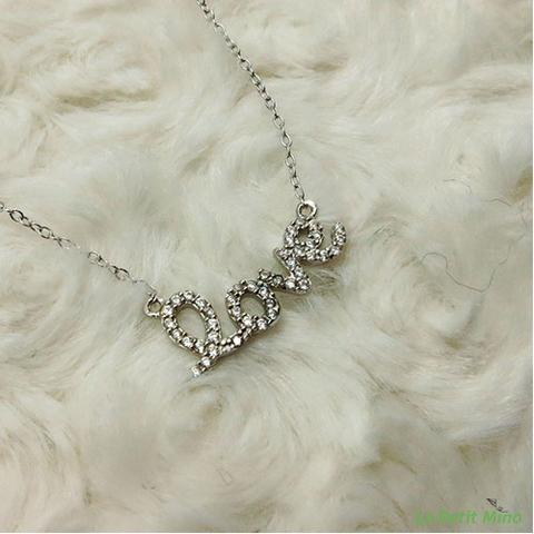 925 Silver Bling Love in Lowercase Pendant Necklace 4