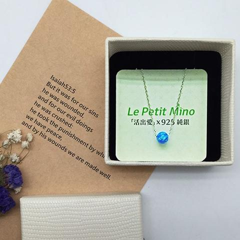 Planet Silver Clavicle Necklace Platinum-Clad Gift Box