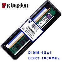 Kingston KVR16N11S8/4 DDR3 1600 4GB, 4G DRAM Memory Modules