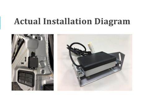 Microwave Sensor Installation Diagram