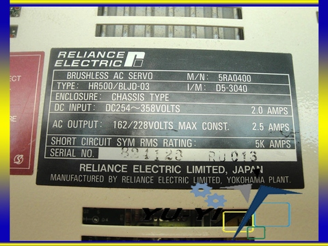 Reliance Electric HR500 AC Brushless Jr.Servo Drive BLJD-03