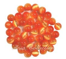 Orange Cat's Eye 6mm Ball