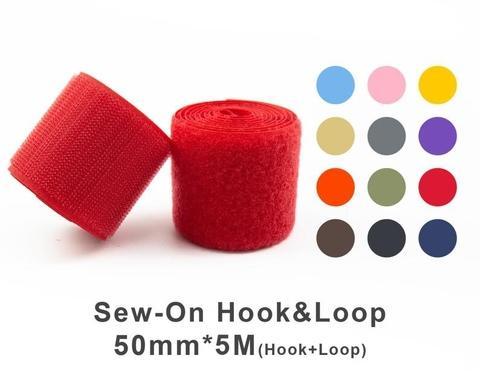 """50mm(2"""") Width 5 Pair Meters Sew-On Hook & Loop"""
