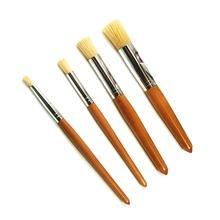 White hog bristle hair paint art brush