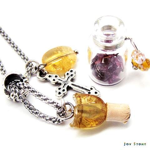 Tulip Cross Essential Oil Diffuser Necklace