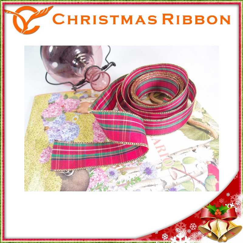 taiwanese fabric wholesale xmas ribbon for christmas cake wrap