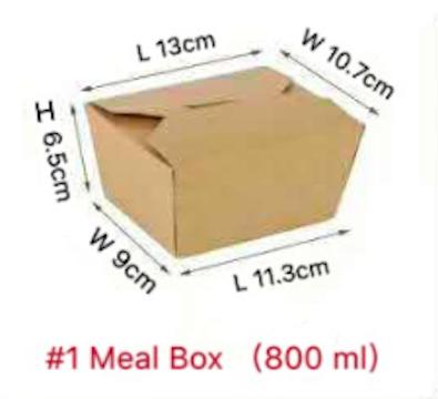 Kraft Brown Take Out Boxes