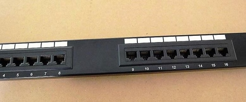 cat 6 patch panel, unshielded (for structured cable system rack patch panel cable install ethernet, cat 5, cat 6