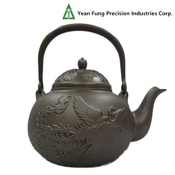 Taiwan cast iron teapot dragon phoenix 0 7l yean fung precision industries corp - Cast iron teapot dragon ...