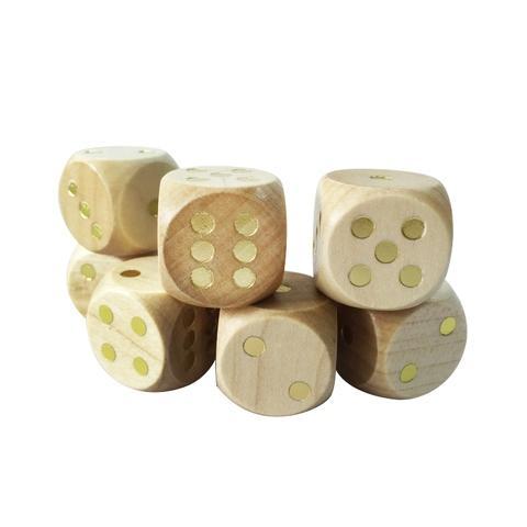 25mm round corner wooden dice