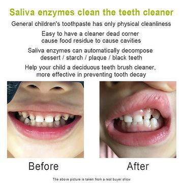 Saliva enzymes clean the teeth Goodbye tartar & stains