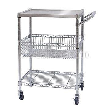 Taiwan Recessed Solid Stainless Steel Top Shelf With Wire