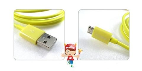 USB 2.0 A to Micro USB Slim Cable-Yellow-1.5M