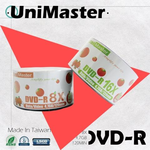 UniMaster DVD-R 16X 4.7GB High Quality Blank Disks