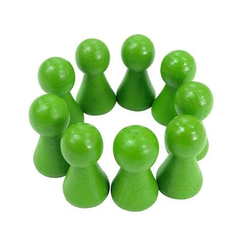 15*27mm Light Green Wooden Pawn