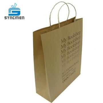 Taiwan Fancy Paper Bag Design With Twisted Handle For Book Syncmen
