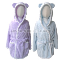 Superior Soft Hooded Baby Bathrobe