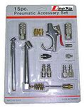 15 pcs PNEUMATIC ACCESSORY SET-Air tool,Pneumatic tool,Air repair tools,Air tools,Pneumatic tools