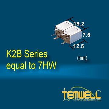 Helical Bandpass Filter - Alternative Toko type 7HW Filter