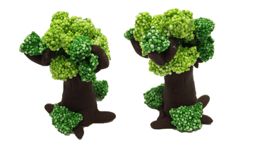 Magic Pearl Foam Clay With Fluffy Beads Trees