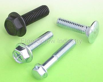 Flange screw, Carriage screw/bolt