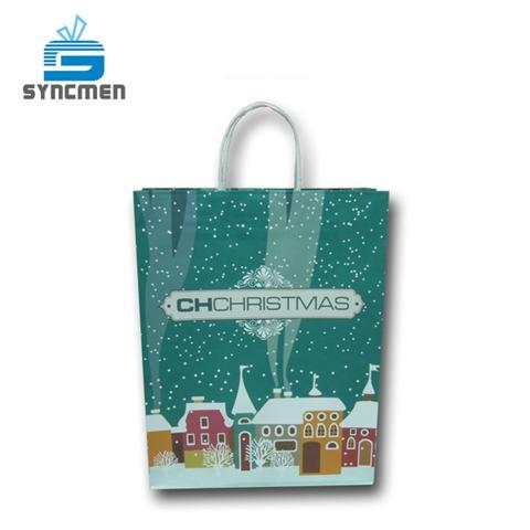 2 styles Christmas Handmade Gift Paper Bag Manufacturer